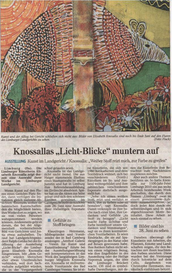 Bericht aus dem Nassauer Tageblatt vom 7.6.2013